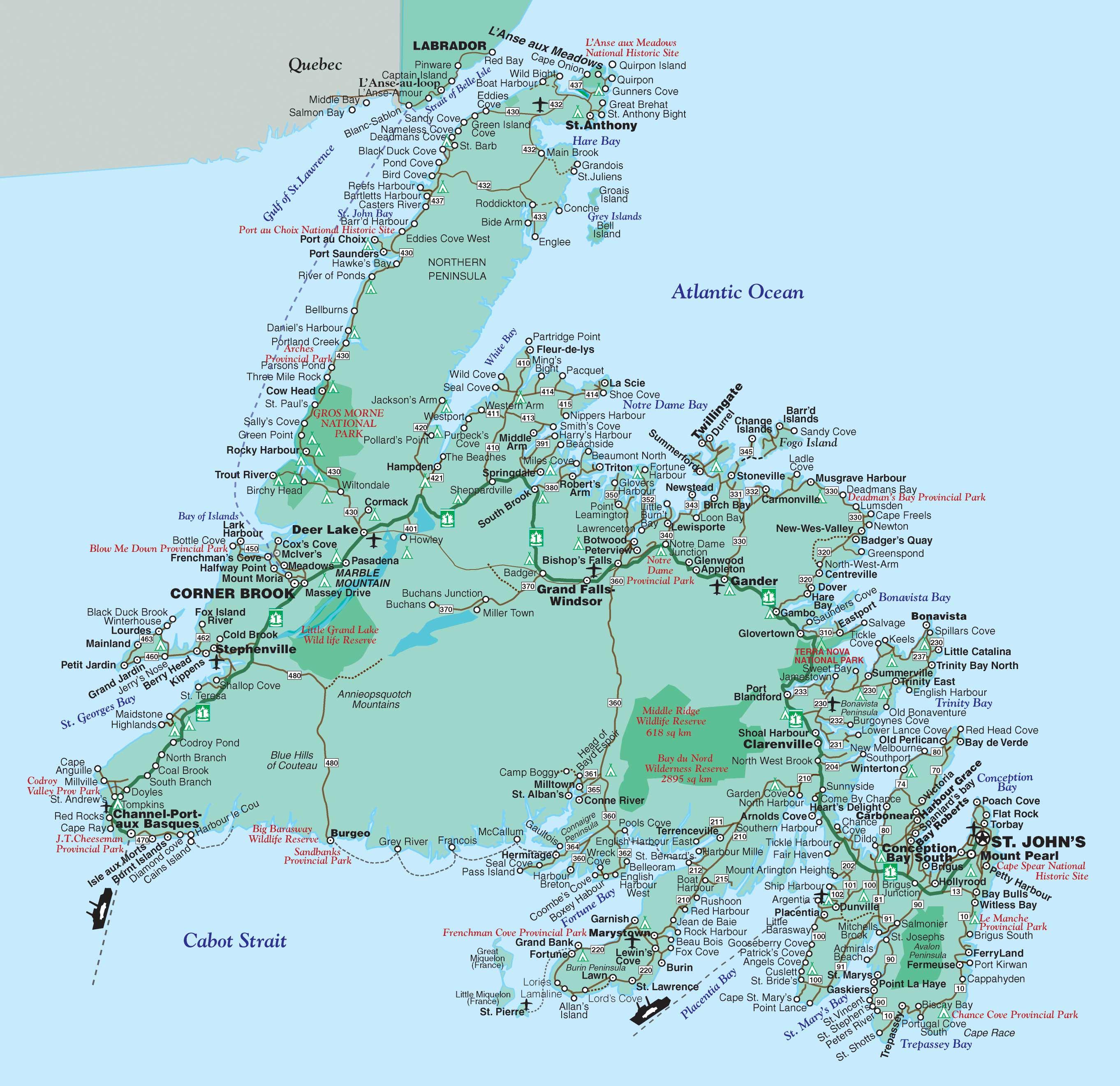 Newfoundland and Labrador | Motorcycle Tour Guide Nova ...