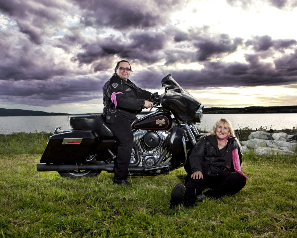 creators of tour guide to Atlantic Canada with motorcycle
