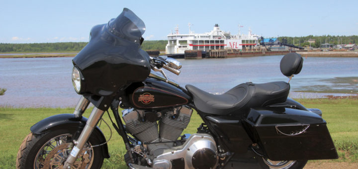 motorcycle at pei ferry wharf